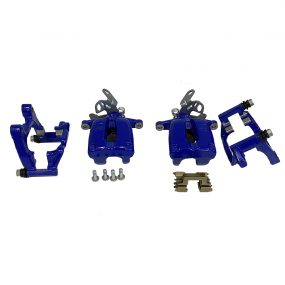 VW Golf Mk5 R32 rear calipers in blue with carriers TRW GTI